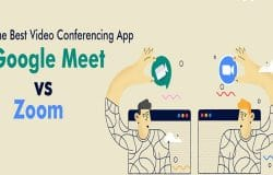 Google Meet and Zoom video conferencing software/ apps